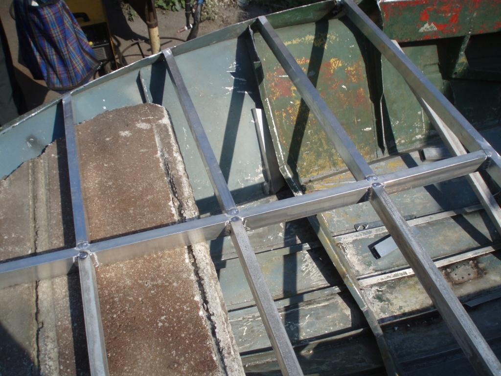 Ремонт алюминиевой лодки