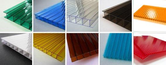 Цветовые варианты поликарбоната